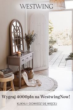 Entry Hallway, Entryway Tables, Style Rustique, House Entrance, Decoration, Ideas Para, Sweet Home, Home And Garden, Room Decor