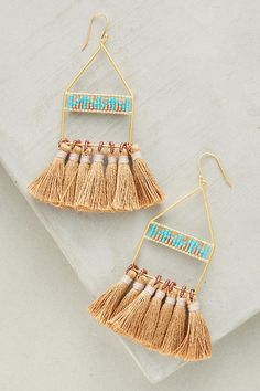 Luce Tassel Drop Earrings | Anthropologie