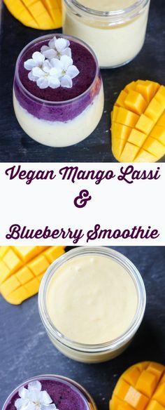 vegan mango lassi & blueberry smoothie   apolloandluna.com