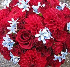 Red wedding flowers www.myfloweraffair.net