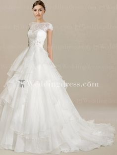 wedding dress with cap sleeves... This is it!
