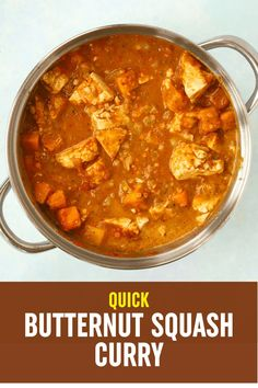 This warming butternut squash curry is from kitchen to table in 30 minutes - making it the PERFECT MIDWEEK MEAL. #tamingtwins #butternutsquash #vegetarian #curryrecipe #curry #vegetariancurry #buternutsquashrecipe #bns Vegetarian Curry, Vegetarian Recipes, Family Recipes, Family Meals, Butternut Squash Curry, Batch Cooking, Curry Recipes, Food For Thought, Twins