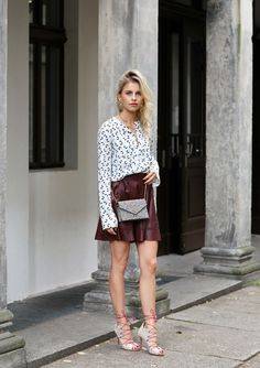 OOTD: Carodaur Makes Mismatched Look Easy in a Luxe Mini #RueNow