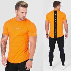 Short Sleeve Hip Hop Men's Sports Fitness Cotton T-shirt - Men's Fitness Apparel, Men's Sports & Fitness T Shirts Hip Hop, Bodybuilding, Sport Fitness, Muscle Fitness, Sport Casual, Mens Tees, Shirt Men, Mens Suits, Sport Outfits