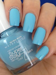 Maybelline Uptown Blue Swatch by Giovanna - GioNails - Nailpolis: Museum of Nail Art