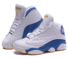 25b193f3a10e Womens Air Jordan Retro 13 White Blue Spain