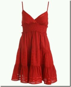 Red Summer Dress.. Just right for summer & cowgirl boots oh ya and a beer ;-)