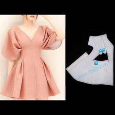 ENG➡️even though in Milan it keeps raining, we like dreaming spring dresses😅 start from a basic block with darts, flare the hem… Fashion Sewing, Diy Fashion, Fashion Dresses, Dress Sewing Patterns, Clothing Patterns, Sewing Clothes, Diy Clothes, Pattern Draping, Sleeves Designs For Dresses