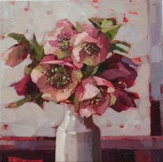 'Hellebores' by Anne-Marie Butlin Oil on canvas