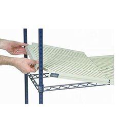 "Nexel Additional Plastic Mat Shelf Size: 1.5"" H x 36"" W x 21"" D"