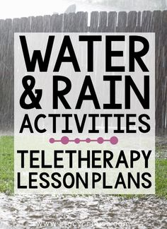 Make spring lesson planning for teletherapy EASY with this list of links to rain-themed activities that target a variety of speech and language goals. Build your own lesson plan using this round up that includes a virtual experience, Boom Cards, books, videos, interactive activities, and more! You'll have something for any goal, any age ready to go on Monday morning and all week long! Speech Therapy Organization, Water Cycle, Interactive Activities, Lesson Planning, Monday Morning, Student Work, Speech And Language, Lesson Plans, Target
