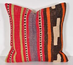 vintage 16x16 kilim pillow kp466 by islimi on Etsy