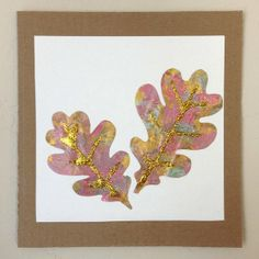 Glittery Leaves: If it's damp and wet outside, don't fear, you can make your own amazing autumn leaves by painting brown paper bags.  We sponge painted with several colors of metallic tempura paint and added veins made out of glitter for a beautiful shining look.  Older children will enjoy creating their own color designs, and leaf shapes but don't overlook this project for the preschoolers.  Younger kids will have great success sponge painting - and once 4/5 can even attempt to cut out the…