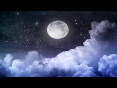 Meditation Relax Music Channel presents Stress Relief Relaxing Music. Deep Sleep Delta Waves Background for Meditation, Study, Yoga. Meditation Musik, Guided Meditation, Evening Meditation, Healing Meditation, Night Sky Moon, Night Skies, Night Clouds, Night Sky Photos, Night Scenery