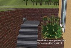 Mod The Sims - Maxis Match Ground Slope Hider Recolours (tbudgett's Retaining Walls)