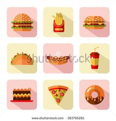 Find Big Vector Flat Style Icons Set stock images in HD and millions of other royalty-free stock photos, illustrations and vectors in the Shutterstock collection. Pizza Cake, Long Shadow, Flat Style, French Fries, Junk Food, Icon Set, Popcorn, Pixel Art, Hot Dogs
