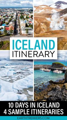 Iceland Itinerary: 10 days in Iceland with 4 sample itineraries for the Ring Road, Golden Circle, Landmannalaugar, Reykjavik, South Coast, Blue Lagoon and more. #iceland #itinerary #goldencircle #bluelagoon
