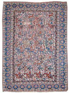Lot 84, a Qashqa'i rug, South Persia, late 19th century. 188 x 147 cm. Estimate 2200 EUR