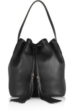 A Porter Product 441977 Gucci Lady Tassel Textured Leather Bucket Bag