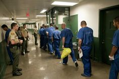Inmate Movement in Hallway- Men's Central Jail. March 11, 2013. (Photo Credit: C. Miller)