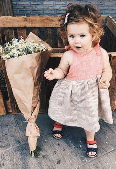 Beautiful Handmade Linen Baby Toddler Dress | Etsy