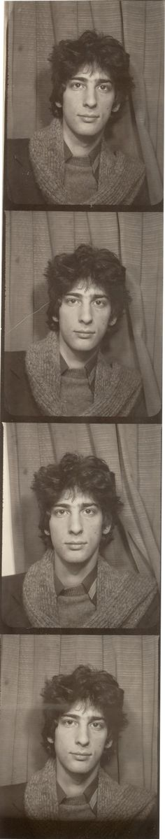 Seventeen-year-old Neil Gaiman in a photo booth