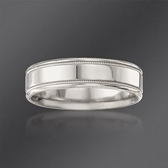 Scott Kay 6mm Men\'s Palladium Wedding Ring