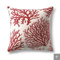 Coral Red Outdura Throw Pillows