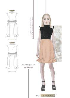 Fashion Sketchbook - fashion drawings; fashion student portfolio // Emily Burnett