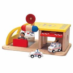 $25.00 - The Wooden Rescue Center comes complete with its own rescue vehicle, rescue squad, first aid attendant, and a helicopter landing pad. The vehicle is spring released at the bush of a button. DIMENSIONS: 10.6 X 7.1 X 4.1MADE IN THAILAND Like Pretend Play Toys? See ?em all here!