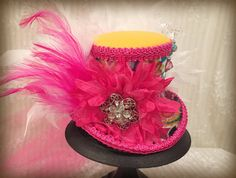 Colorful Steampunk Mini Top Hat  Mad Hatter Hat by MKButlerDidIt