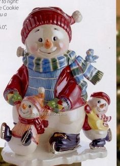 Christmas Cookie Jars | Waterford Cool Yule Collection Snowy Village Holiday On Ice Cookie Jar ...