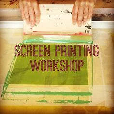 Screen printing workshops. For more information or to book on a workshop please email me on info@azrabano.com Textile Prints, Textiles, Screen Printing, Workshop, Book, Design, Home Decor, Screen Printing Press, Atelier