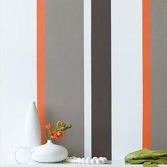 Easy Stripe - Varied Width Sunset, Silk Grey & Sepia Brown