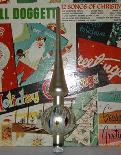 Beautiful Vintage West German Glass and Glitter Christmas Tree Topper