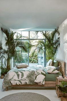 Home Interior Pictures 6 Ways to Introduce Summer into the Bedroom.Home Interior Pictures 6 Ways to Introduce Summer into the Bedroom Best Interior Design, Home Design, Design Ideas, Interior Design Plants, Design Trends, Interior Design Small Bedroom, Green Bedroom Design, Room Design Bedroom, Ikea Interior