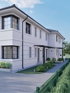 Garage Doors, Mansions, House Styles, Garden, Outdoor Decor, Modern, Home Decor, Garten, Trendy Tree