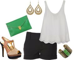 shorts with heels outfits - Google Search
