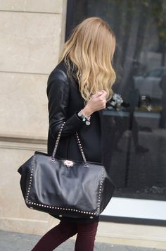 Valentino studded bag...get this look at Gracie's for only $110