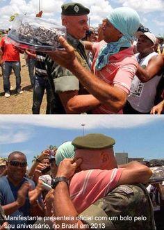 Momentos bonitos de protestos e manifestações pelo mundo