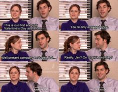 The Office. Pam and Jim. Cupid's birthday.