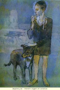 Pablo Picasso. Boy with a Dog. 1905. Pastel and gouache on cardboard. The Hermitage, St. Petersburg, Russia