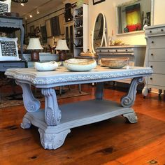 Kicking off this week with a big sale! Making room for new inventory we have slashed the prices on a few of our bigger pieces! This gorgeous hunk of coffee table is 50% off!  Stop in we are open until 5! #sale #vintagefurniture #reimagined #coffetable #fransiscangray #devonpa #eastcotelane