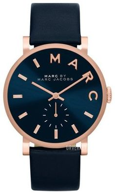 Marc by Marc Jacobs Womens Baker Navy Leather Strap Watch - Womens Watches - Jewelry Watches - Macys Marc Jacobs Uhr, Bracelets Bleus, Jewelry Accessories, Fashion Accessories, Gold Jewelry, Fashion Jewelry, Jewelry Watches, Women's Watches, Nordstrom