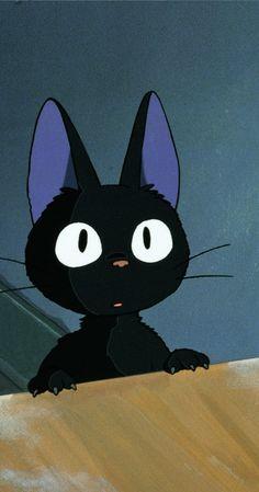 from Kiki Delivery Service / Hayao Miyazaki Hayao Miyazaki, Kiki Delivery, Kiki's Delivery Service, Studio Ghibli Art, Studio Ghibli Movies, Animation, Howls Moving Castle, Cat Art, Aesthetic Anime