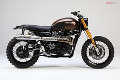 The latest guide from Bike EXIF is How To Build A Scrambler. Here's a little inspiration from German builder JvB-Moto, the beautiful Triumph Tridays bike.