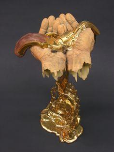 Johnson Tsang(Hong Kong) reflects on violence and compassion in his stunningly surreal, ceramic sculpture Conversion Johnson Tsang, Human Body Parts, Hand Sculpture, Guanyin, Revolver, Art Forms, Surrealism, Buddha, Art Pieces