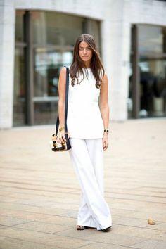 Moda de Rua: Looks total white na NY Fashion Week (Streetstyle)