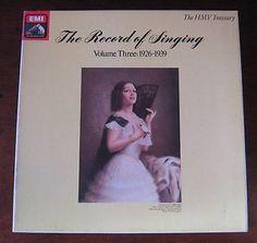 EMI HMV EX 2901693 The Record of Singing Vol 3 13 RECORDS VINYL LP SET Classical