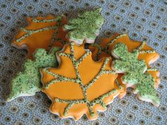 Fall Leaves Sugar Cookies -     Sparkling vanilla sugar cookie leaves all dressed up for Thanksgiving!